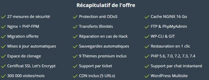 wpserveur recapitulatif offre agence