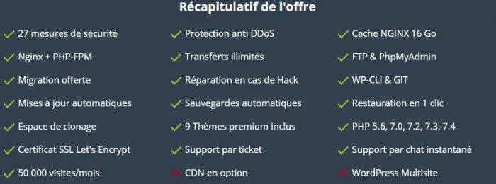 wpserveur recapitulatif offre blogueur