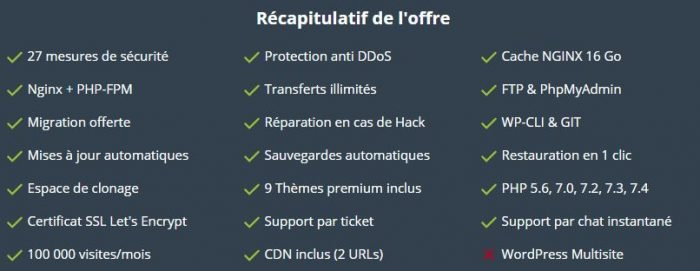 wpserveur recapitulatif offre freelance
