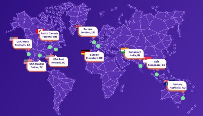 HostArmada locatisation des data centers dans le monde