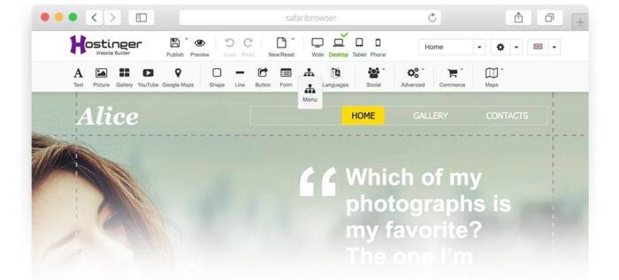 hostinger createur de sites