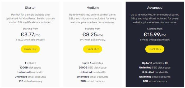 stablepoint offres d'hébergement Cloud sous cPanel