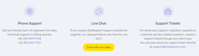 stablepoint support client